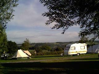 camping onder boom