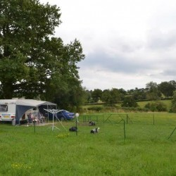 Omheinde campingplaats